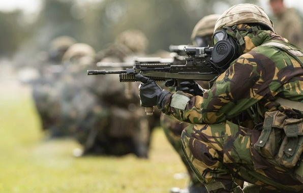 Картинка оружие, армия, солдаты, British Army