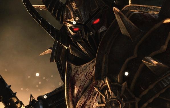 Картинка взгляд, воин, броня, Chaos, хаос, warhammer, Age of Reckoning