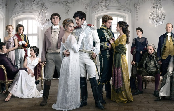 Картинка James Norton, Lily James, Война и мир, Aneurin Barnard, War & Peace, в сериале, Paul …