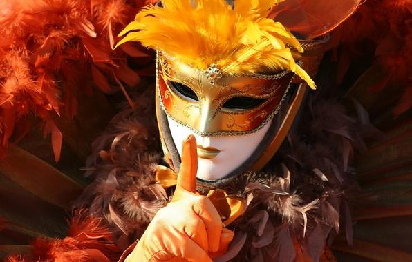 Картинка mask, costume, gloves, Carnival