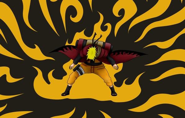 Картинка парень, Наруто, Naruto, art, свиток, uzumaki naruto, nelsonaof, режим мудреца, природная энергия