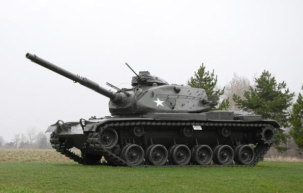 Картинка танк, США, бронетехника, средний, M60, 1960-х годов
