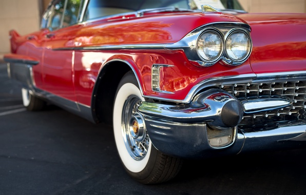 Картинка машина, красный, автомобиль, 1958, Cadillac Fleetwood 60 Special