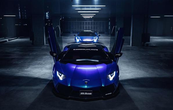 Картинка Lamborghini, Car, Purple, Front, LP700-4, Aventador, Wrap, MM-Design
