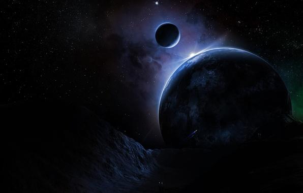 Картинка Звезды, Планета, Nox Noctis