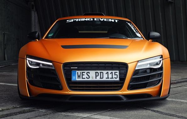Картинка машина, Audi, фары, передок, front, Prior Design, GT850