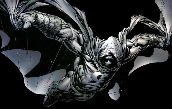 Картинка пули, черный фон, Marvel, комикс, comics, Moon Knight, Лунный Рыцарь