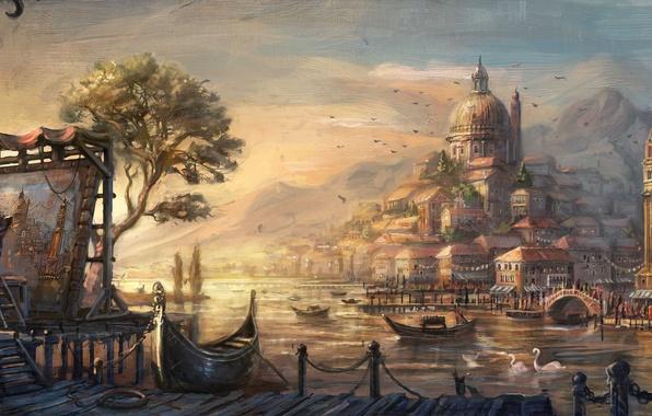 Картинка city, lowres, venetian, anno 1404