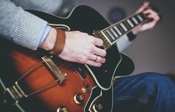 Картинка music, guitar, sound, musician, musical instrument
