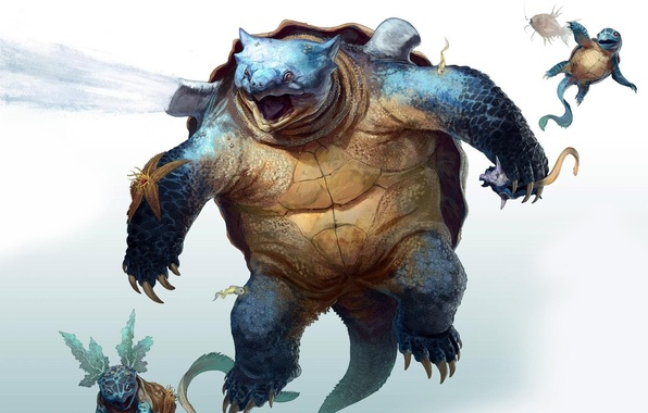 Картинка Pokemon, fantasy art, Squirtle, сквиртл