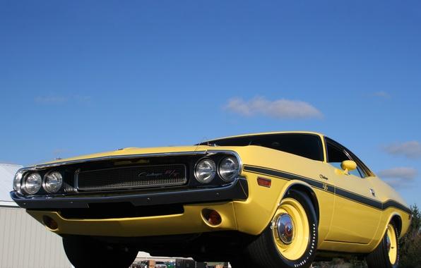 Картинка машина, небо, Dodge, Challenger, додж, передок, 426, Hemi, R/T