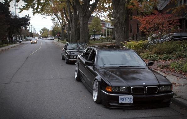 Картинка осень, тюнинг, бмв, BMW, диски, классика, tuning, autumn, stance, E28, E38