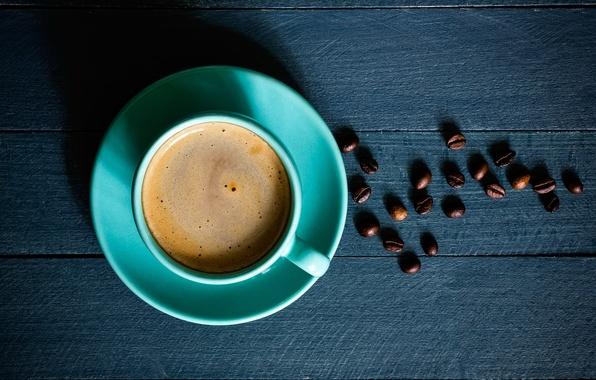 Картинка кофе, чашка, кофейные зерна, блюдце, coffee, Cup, coffee beans, saucer