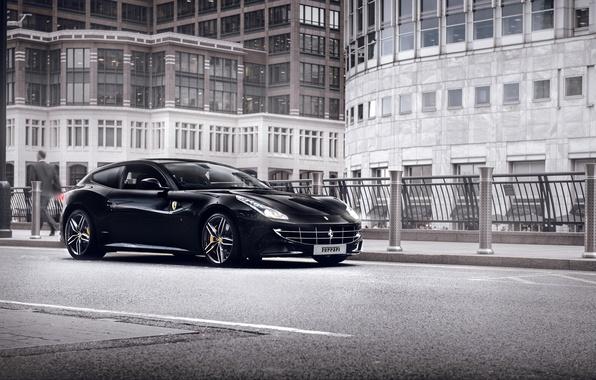 Картинка город, улица, феррари, Ferrari FF