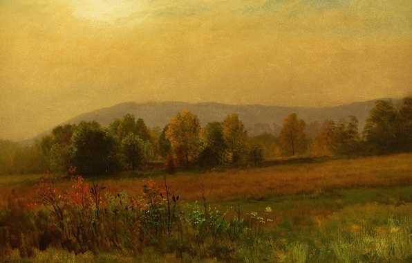 Картинка природа, картина, Альберт Бирштадт, Осенний Пейзаж