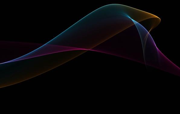 Картинка лучи, свет, линии, узор, мрак, дым, цвет, газ