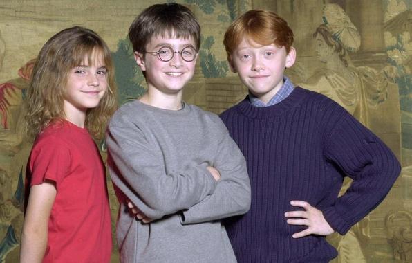 Картинка Гарри Поттер, актёры, Эмма Уотсон, Emma Watson, Дэниэл Рэдклифф, Harry Potter, Daniel Radcliffe, Rupert Grint, …