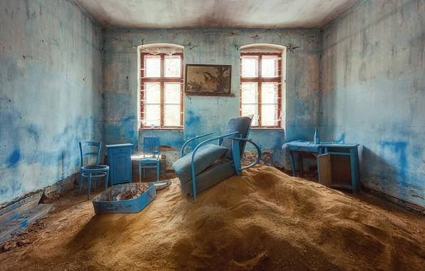 Картинка песок, комната, мебель