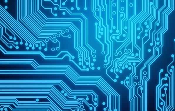 Картинка blue, background, circuit board
