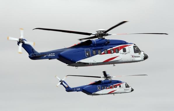 Картинка вертолёт, двухмоторный, транспортный, четырехлопастной, Sikorsky S-92
