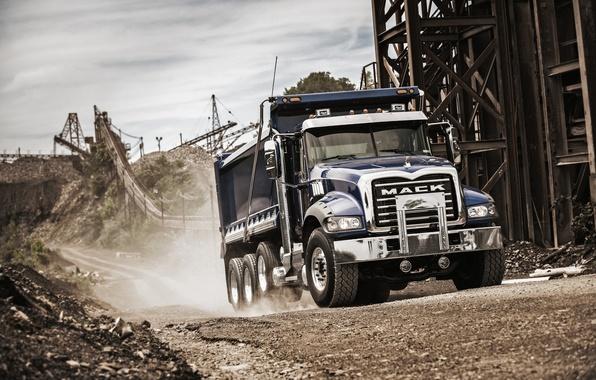 Картинка грузовик, карьер, Mack, Granite