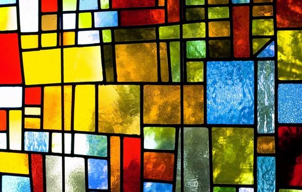 Картинка стекло, colorful, abstract, витраж, glass, background, window, stained