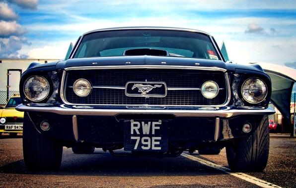 Картинка car, машина, mustang, мустанг, ford, форд, классика, muscle