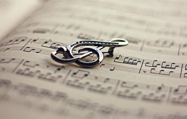 Картинка ноты, ключ, книга, скрипичный