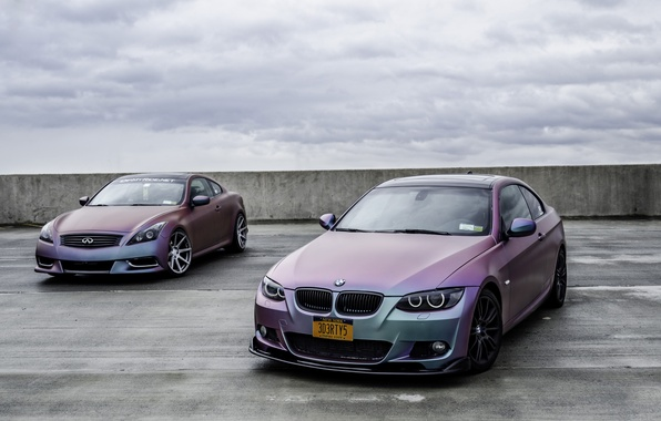 Картинка BMW, Тюнинг, БМВ, Infinity, Инфинити, 335i, E92, G37