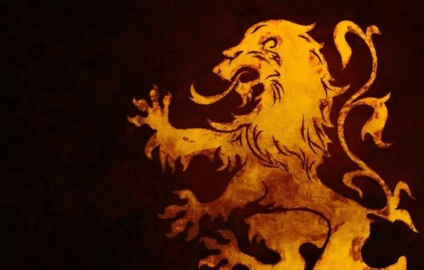 Картинка red, logo, emblem, yellow, sign, symbol, Lion, shield, royal
