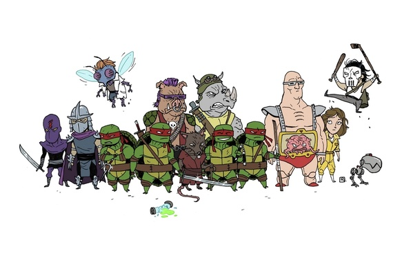 Картинка Рафаэль, Krang, TMNT, Raphael, Leonardo, Donatello, Донателло, Леонардо, Splinter, Сплинтер, Микеланджело, Teenage Mutant Ninja Turtles, …