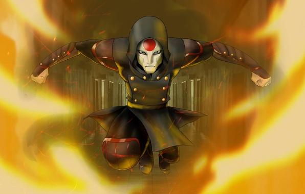 Картинка маска, злодей, avatar, anime, The Legend Of Korra, amon, Noatak