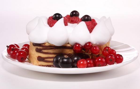 Картинка ягоды, малина, еда, черника, plate, пирожное, cake, крем, десерт, food, сладкое, chocolate, sweet, 1920x1080, blueberry, …