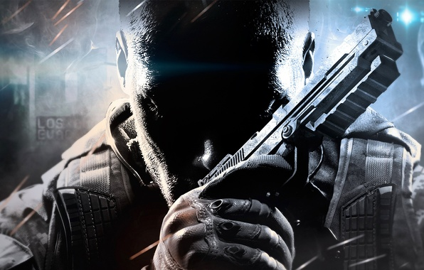 Картинка будущее, пистолет, оружие, солдат, перчатки, бронежилет, Treyarch, Call of Duty: Black Ops 2