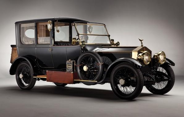 Картинка ретро, Ghost, автомобиль, Silver, Rolls-royce, 1915