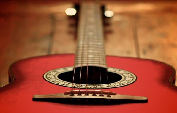 Картинка гитара, струны, гриф, музыкальный инструмент