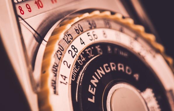 Картинка Vintage, Macro, Light meter, Leningrad 4