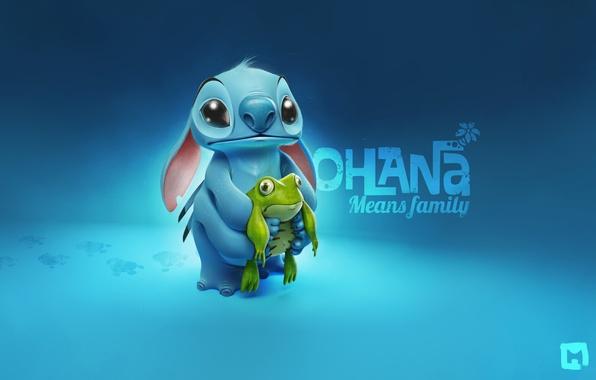 Картинка лягушка, frog, Stitch, Стич