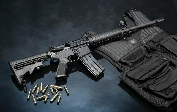Картинка оружие, пули, патроны, винтовка, armor, бронежилет, rifle, ar-15