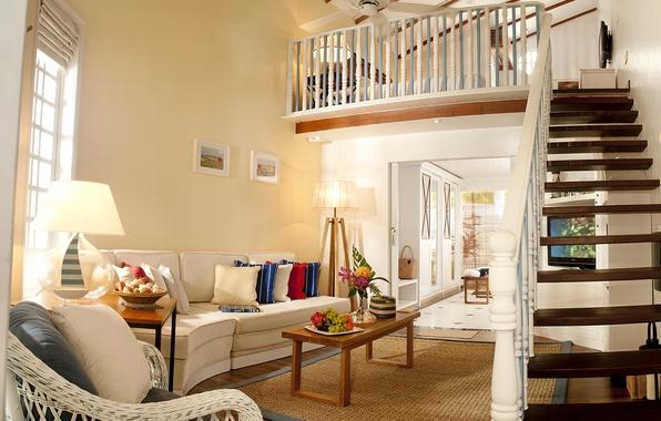 Картинка фото, диван, интерьер, лестница