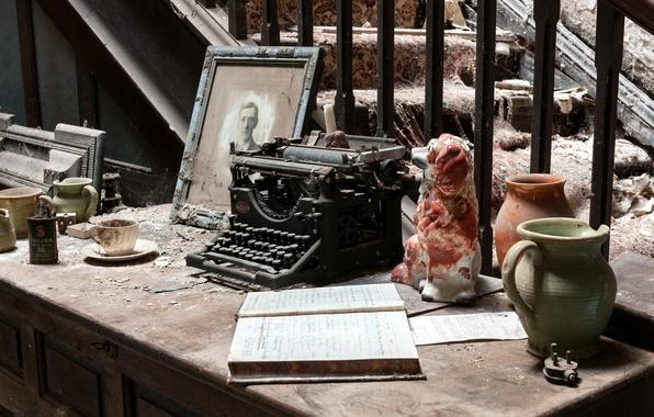 Картинка фон, пыль, печатная машинка