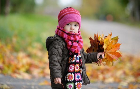 Картинка осень, листья, дети, детство, ребенок, размытие, мальчик, autumn, leaves, boy, blur, child, cute, милые, childhood, …