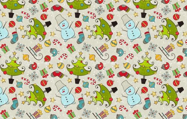 Фото обои настроение, праздник, подарок, текстура, Новый год, снеговик
