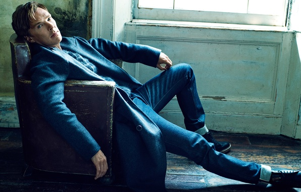 Картинка фотосессия, Бенедикт Камбербэтч, Benedict Cumberbatch, Elle, сентябрь 2014