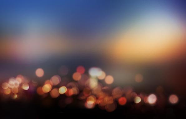 Картинка свет, ночь, city, город, lights, огни, краски, colors, light, night, боке, bokeh, 1920x1080