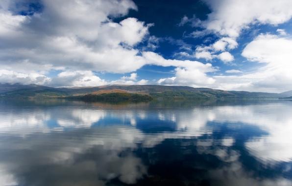 Картинка небо, вода, пейзаж, горы, природа, озеро, река, океан, вид, красота, аляска