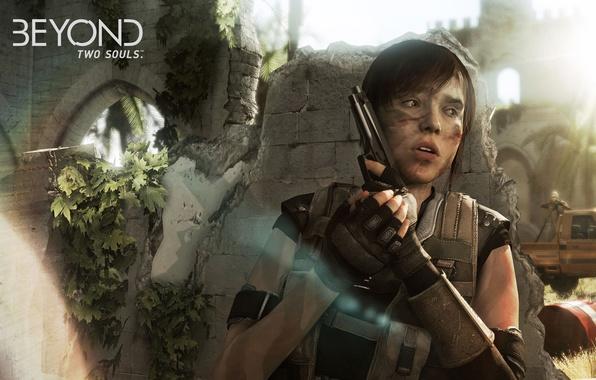 Картинка пистолет, Quantic Dream, Beyond: Two Souls, Ellen Page, Jodie Holmes