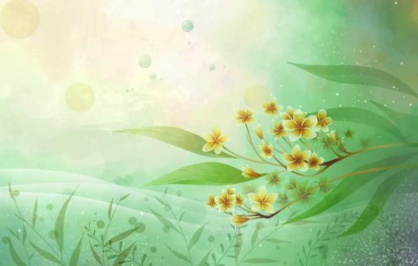 Картинка цветок, листья, цветы, стиль, стилизация, арт, белая, white, flower, style, art, плюмерия, франжипани, frangipani, Plumeria