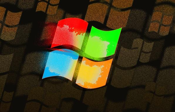 Картинка компьютер, цвет, логотип, эмблема, windows, операционная система