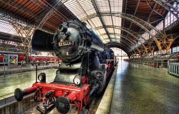Картинка паровоз, Germany, Dresden, Steam Train